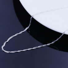 silver necklace female models wave chain of high end women s jewelry vintage jewelry silver jewelry