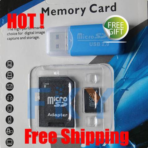 Refused to false ! Micro SD card SDHC 128mb 1gb 2gb 4gb 8gb 16gb 32gb 64gb TF Memory card + SD transfer adapter + TF Card Reader(China (Mainland))