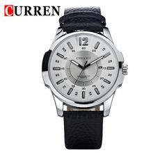 2016 CURREN Top Brand Quartz Watch Casual Fashion Leather Strap Watches Relogio Masculino Men Sports Wristwatches 8123