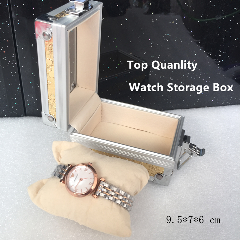 2016 Silver Single Brand Watch Box New Top Quanlity Watch Gift Case With Pillow Special Watch Storage Boxes P076(China (Mainland))