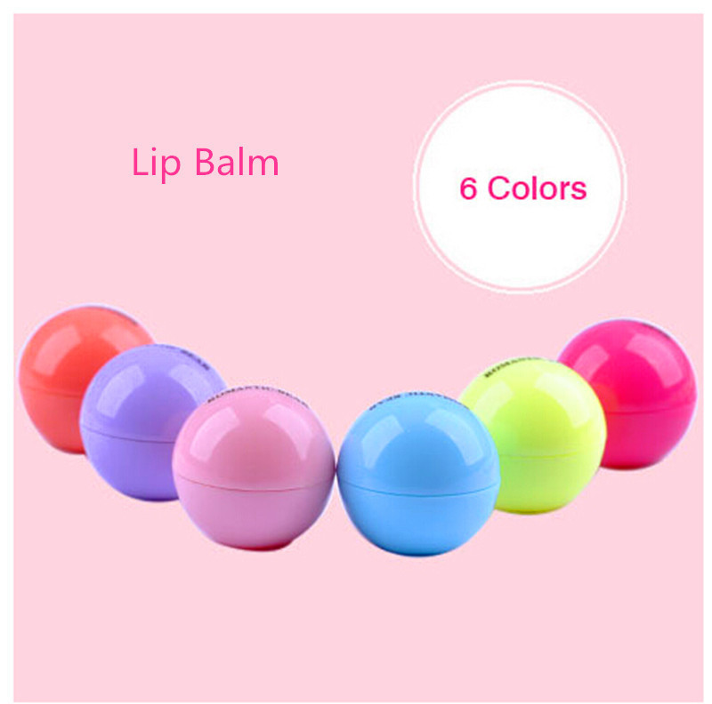 Full Lips Lip Enhancer 6 color Natural Plant Organic Sphere Pomade Coco Cola Ball Lipstick Embellish Lip Balm,Chapstick(China (Mainland))