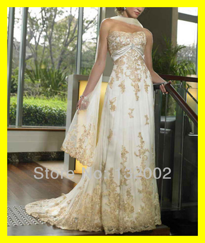 Gold wedding dresses short brides zac posen white and red for Short red and white wedding dresses
