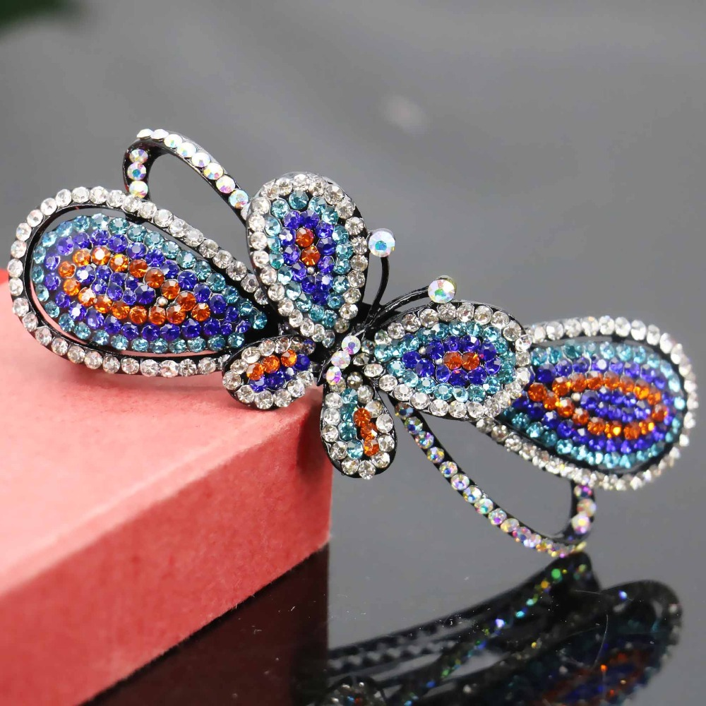 27*85mm Wedding Headdress Butterfly Gifts Head Bands Headband Crystal Hair Accessory Inlaid Rhinestone Jewelry Making(China (Mainland))