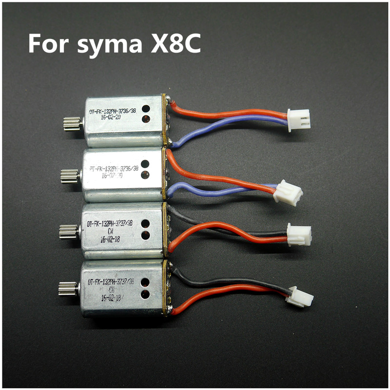 Syma X8C Motor 4pcs 2 Clockwise Motor A + 2 Anti-clockwise Motor B Parts Engine for RC Quadcopter Syma X8C X8W X8G