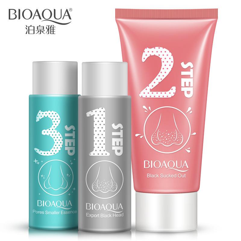 Beyoutiful Black Out Pore Treatment: BIOAQUA Nose Blackhead Remover Facial Mask Peeling Acne