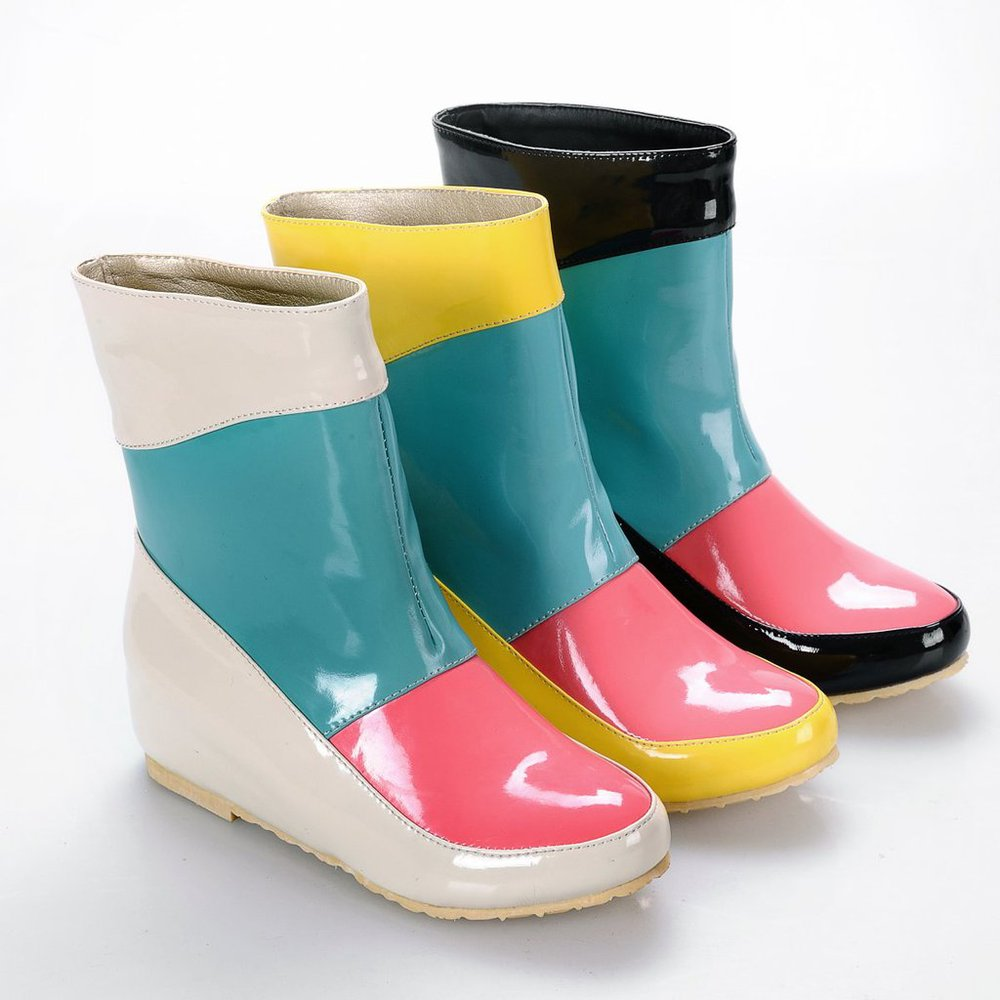 Japanese And Korean Style Wholesale Trade Candy Hit The Color Patent Leather Ladies Fashion