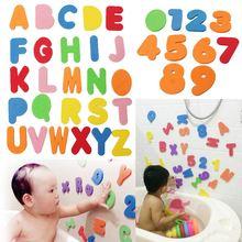 36PCs Alphanumeric Letter Bath Puzzle EVA Kids Baby Toys New Early Educational Kids Bath Funny Toy(China (Mainland))