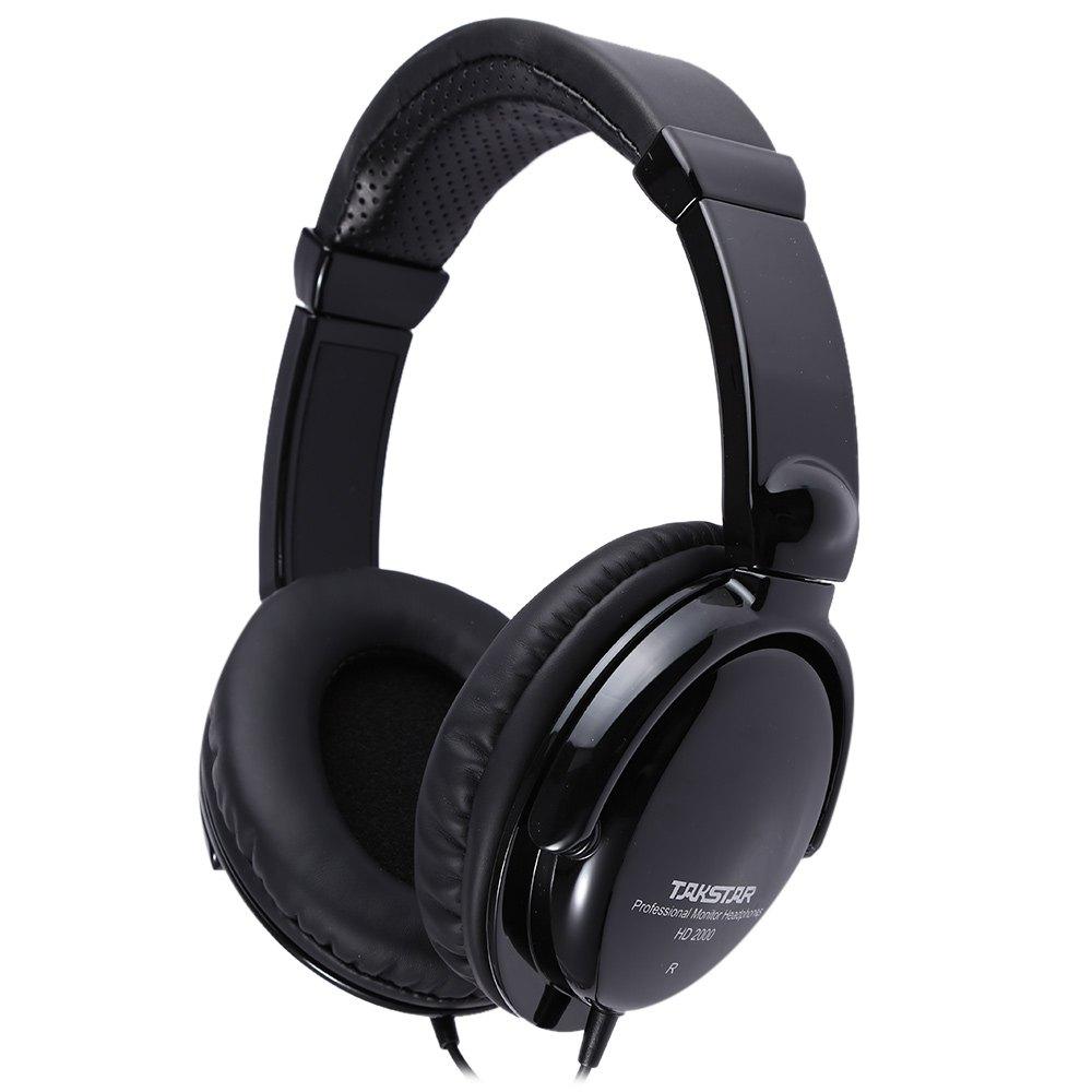 TAKSTAR HD2000 headset music monitor's dj earphones Free Shipping Audio Mixing Recording Professional Monitor Headphones(China (Mainland))
