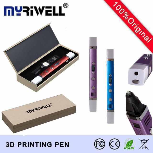 MYRIWELL USB Power 3D Ручка Искусства Смарт-Перо для Рисования Печати 3D ручки Дети Творческий Образования Игрушки Инновации Ручка Каракули Ручка 3D Модель