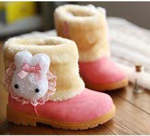 Baby Boots Winter Burst Child Snow Boots Children Warm Bowknot Woolen Infant Crib Boys Girls Fur Winter Snow Shoes(China (Mainland))