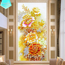 Buy PSHINY 5D DIY Diamond Painting Cross Stitch flowers Pictures home decor Full Mosaic kits Square Rhinestone Diamond embroidery for $9.98 in AliExpress store