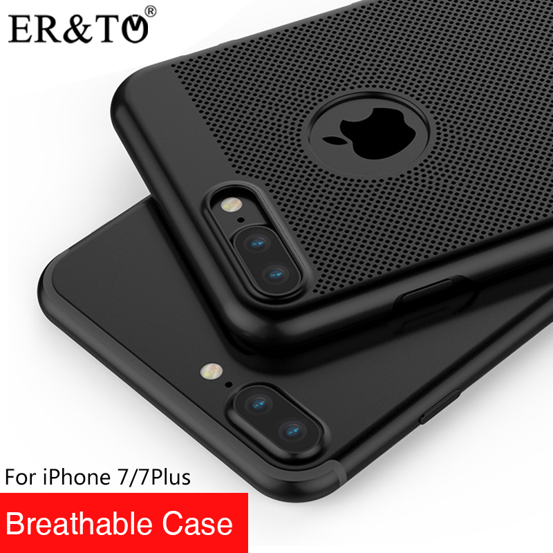ER&T Breathable Mobile Phone Cases For iPhone 7 7 Plus Cases 4 Classic Colors Brand Guarantee Unique Protect For iPhone Cases(China (Mainland))