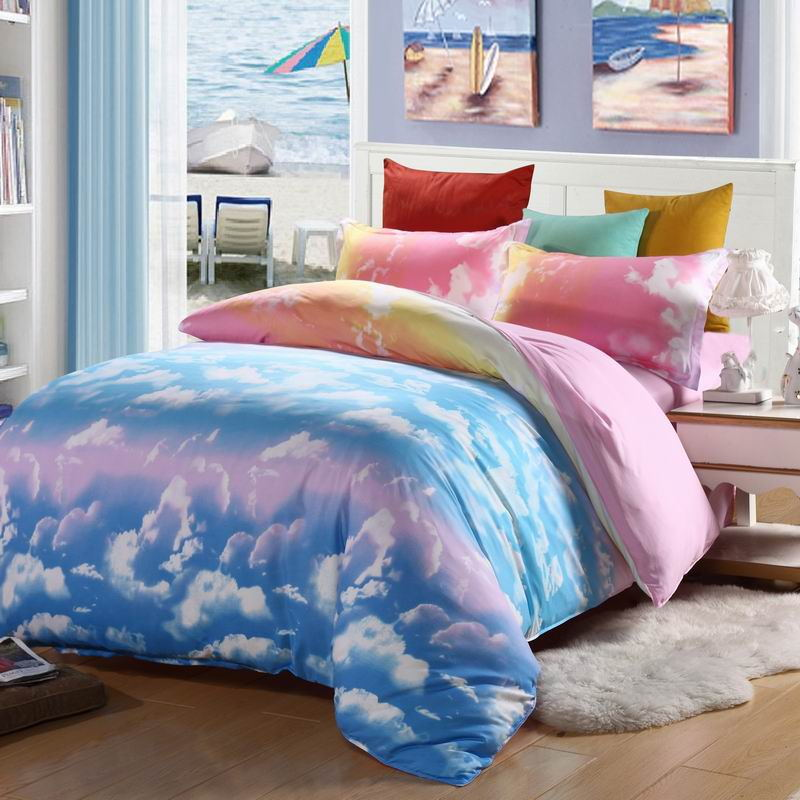 2015 hot sale 10 color brief bedding quilt bed sheets Modern style 4pcs children love fashion reactive printing bedding CH-009(China (Mainland))