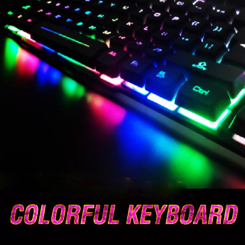 Suspended LED backlight keyboard desktop notebook computer keyboard colorful Internet Cafe Game<br><br>Aliexpress