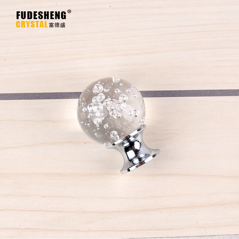 30MM 10PCS High-end kitchen Cabinet Hardware Accessories Handle Knob Selling K9 Crystal Bubble Ball SJ-2011(China (Mainland))