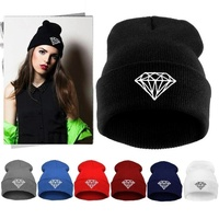 2015 womens fall fashion winter diamond beanies vogue knitted Ski beanie skullies hats for women men,bonnet gorras mujer,toucas
