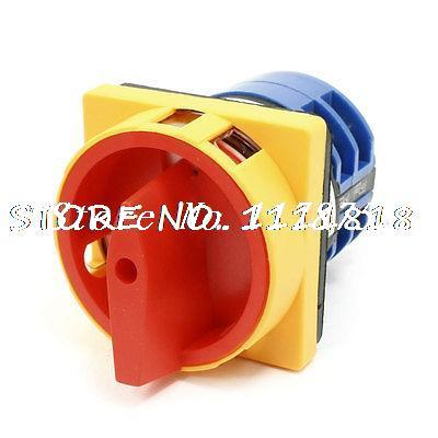 AC 380V 32A Self Locking Three Position Cam Combination Changeover Switch<br><br>Aliexpress