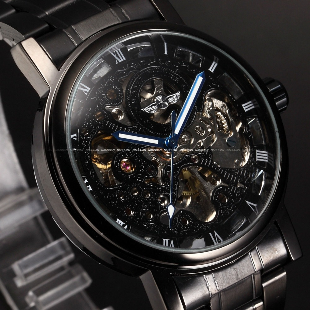 brand new winner luxury automatic mechanical skeleton