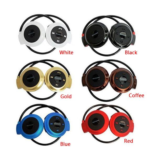 Hot Mini503 BH503 Neckband Mini Wireless Sport Bluetooth Headset/headphone Music Stereo Bluetooth Earphone Micro SD Card Slot