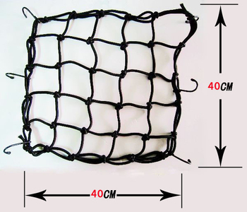 NEW GREEN Motorbike Motorcycle Cargo 6 Hooks Hold Down Net Bungee Free shipping