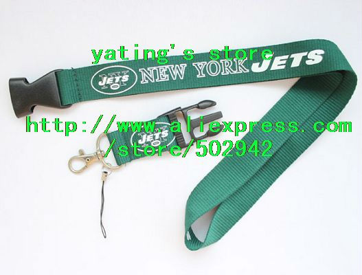NEW NFL York Jets football LANYARD / KEYCHAIN(China (Mainland))