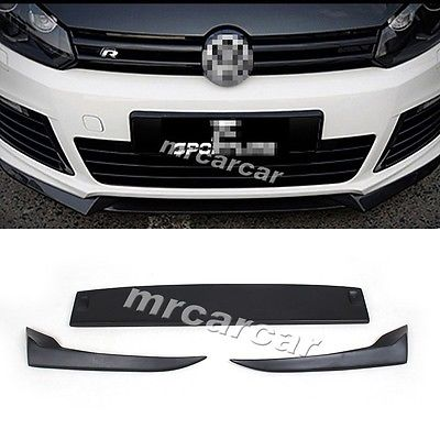Фотография MK6 R20 FRP Unpainted Auto Car Front Lip Spoiler Splitter Flap Fit For VW Golf VI MK6 R20 Bumper 2010-2013