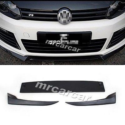 Фотография MK6 R20 FRP Unpainted Auto Car Front Lip Spoiler Splitter Flap Fit For VW Golf VI MK6 R20 Bumper 2010-2013