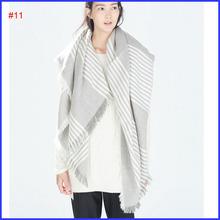 Za Scarf women Tartan Plaid Cashmere fashion Scarf Pashmina New Designer Blanket Scarf Luxury Brand Women's Scarves and Wraps(China (Mainland))