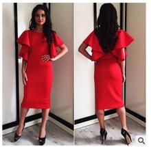 7182#EBAY aliexpress aliexpress explosion in long short sleeved dress fashion slim