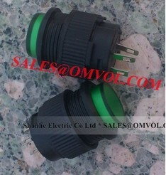 green momentary push button switch with LED lighting DC 3V 4pins 16mm