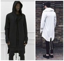 Spring Autumn Europe Men Hoodie Hiphop Clothes Mens Hoody Sweatshirt Golden Zipper Full Sleeve Black Cloak Sport Outerwear S-XXL(China (Mainland))
