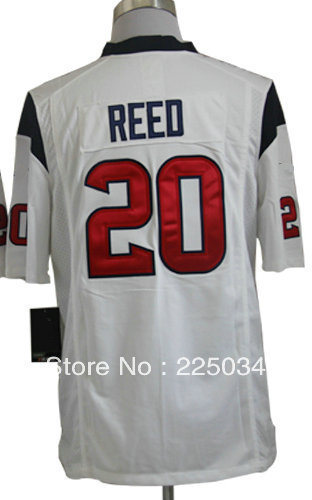 Free Shipping Hot American Game Football Jersey #20 Ed Reed White Man Game Jerseys Size S-XXXL Embroidery name and number(China (Mainland))