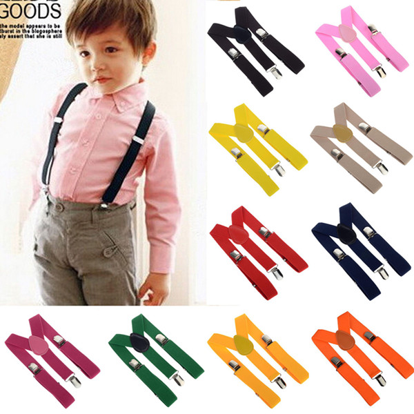 Free Shipping 2014 Unisex Kids Boy Girls Clip on Suspenders with Adjustable Elastic Braces Children Apparel