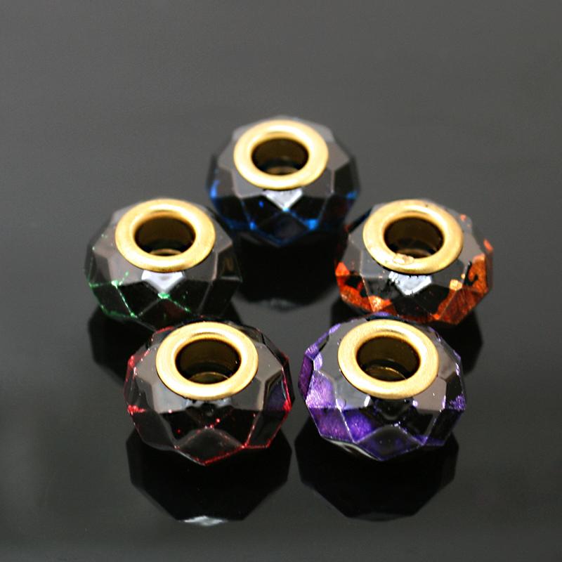 9X14mm Glass / Ceramics Big Hole Loose Beads fit European Market Jewelry Bracelet Charms DIY Free Shipping BBD122(China (Mainland))