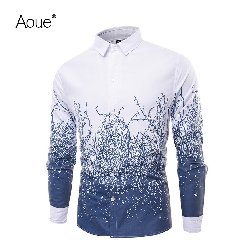 Aoue 2016 Spring shirts men dress Male blouse Social Shirt Brand Luxury chemise camisa(China (Mainland))