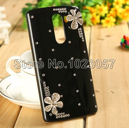 Elegant Flowers Bling Crystal Back Case Cover For LG Leon 4G LTE H340N C50 C40(China (Mainland))