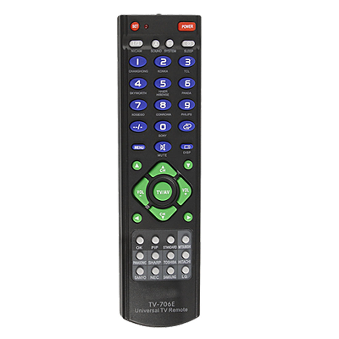 UXCELL Blue Green Gray Button Plastic Shell Tv Universal Remote Controller(China (Mainland))