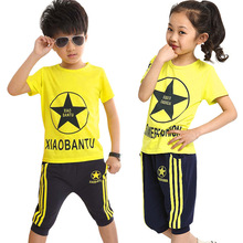 Children S Clothing 2015 Boys Girls Summer Sets New Fashion Kids Sets Boys T Shirt And