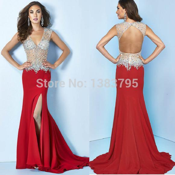 High Quality Dark Red Prom Dresses 2016-Buy Cheap Dark Red Prom ...