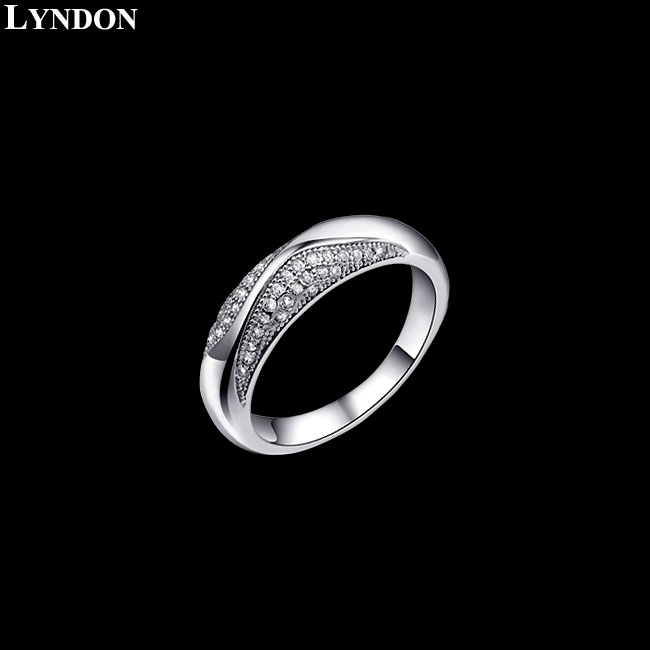 100% 990 Sterling Silver & Swiss AAA Grade CZ Diamond Rings Popular Item[ Attached Appraisal Certificate ](China (Mainland))