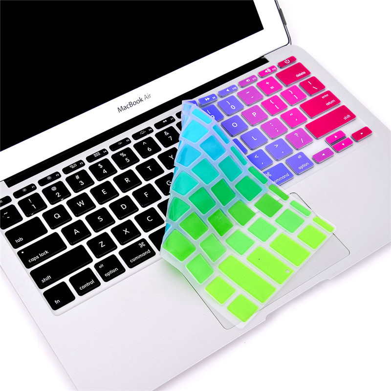 """for Apple Macbook Keyboard Cover 11""""13"""" 15"""" 17"""" Cute Color Laptop Keyboard Stickers US&EU Version Silicone Skin Protector Covers(China (Mainland))"""