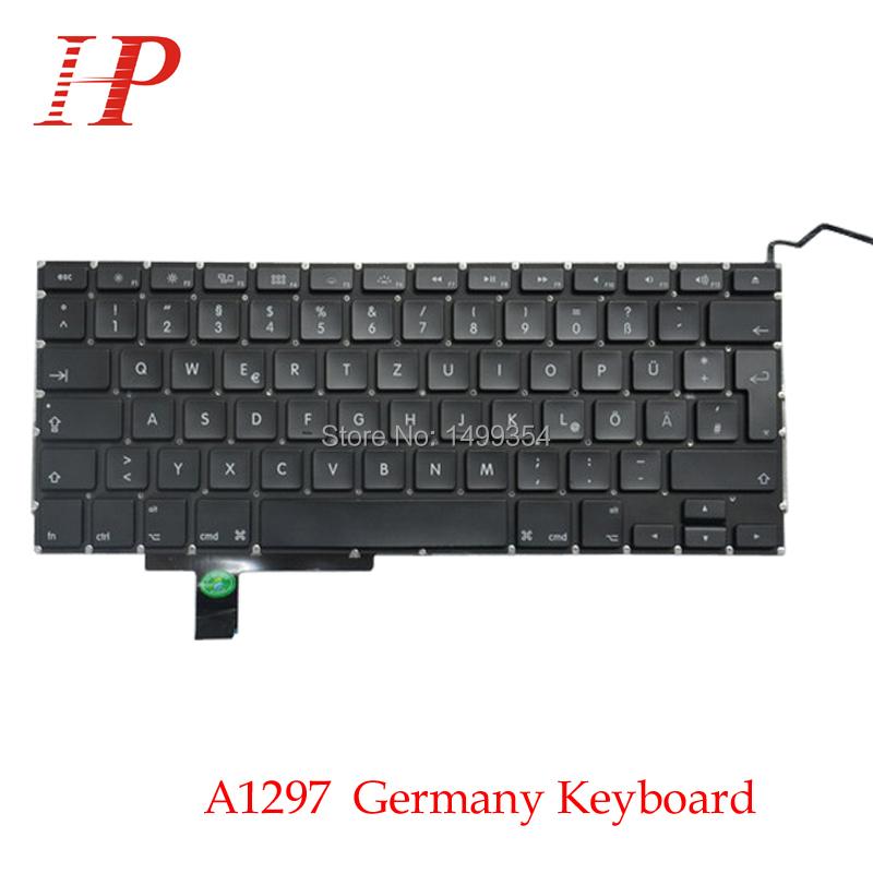 5Pcs/Lot For Macbook Pro 17 A1297 MD318 MC725 MC024 Original Laptop Germany/German Keyboard GR Keyboard<br><br>Aliexpress