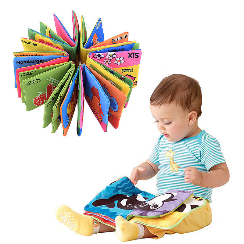 Learning And Development Toys : Hot baby toy infant cloth book toys doll early development