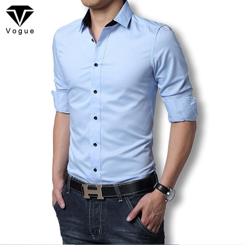 2016 Men Dress Shirt Elegant Comfort Long Sleeve Men Shirt Cotton Solid Slim Fit Business Casual Shirt Men Shirt Plus Size M-3XL(China (Mainland))