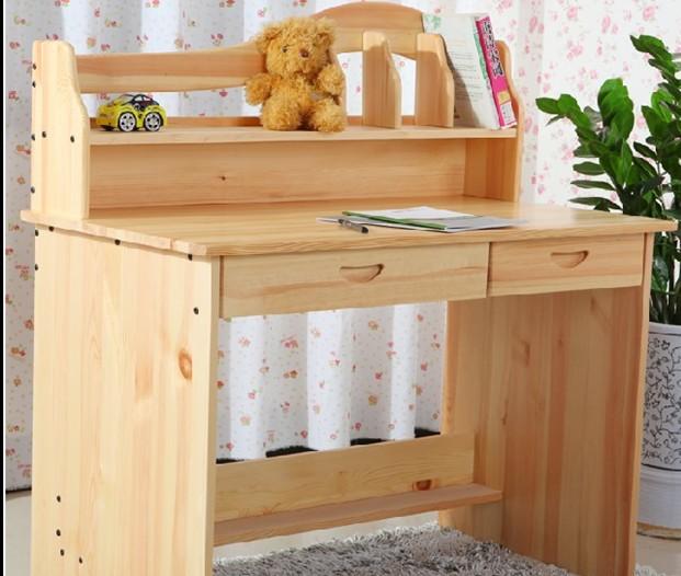 Mesa de madera maciza escritorio para los ni os aprender en casa escritorio escritorio del - Mesa madera ninos ...