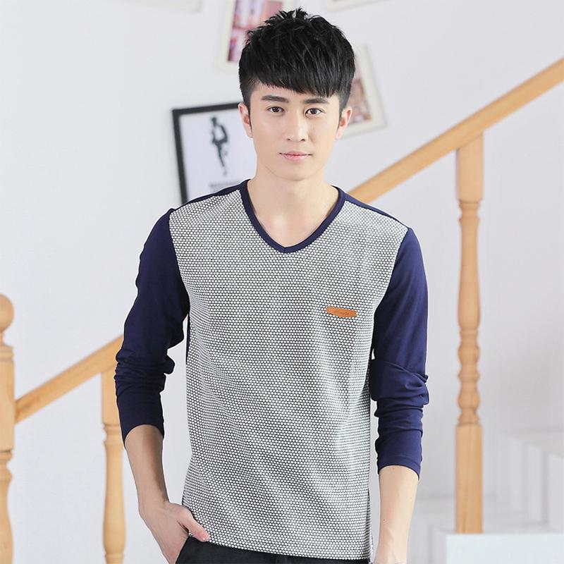 V Neck T Shirts For Male Hedging 2015 Mens Fashion Slim