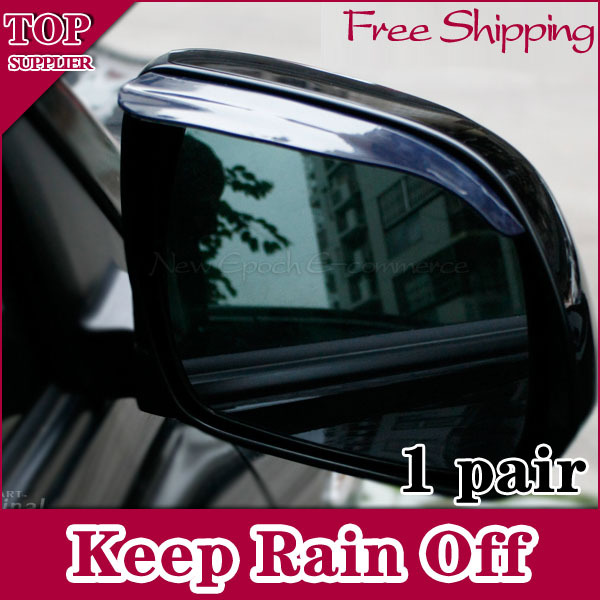 1Pair Soft Car Rear View Mirror Rain Shade Guard Black Clear Choose Color - Shenzhen New Epoch E-commerce Inc store