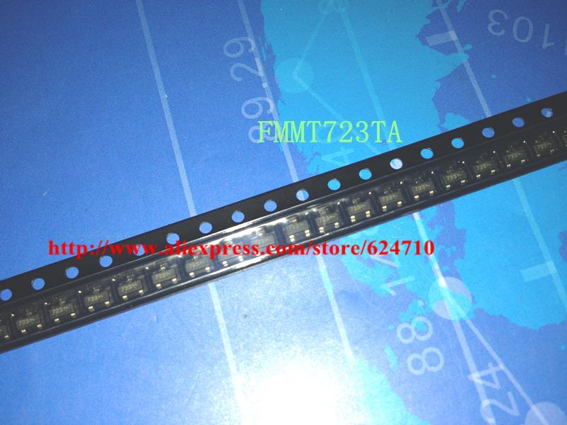 Il trasporto libero 100 pz/lotto FMMT723TA FMMT723 sot-100 v 1a zetex pnp silicon transistor di commutazione di potenza(China (Mainland))