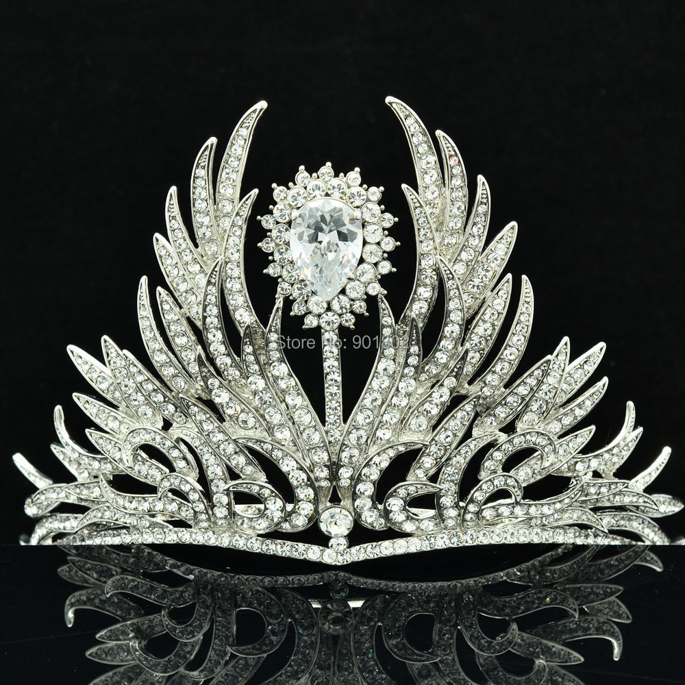 Free Shipping Flower Tiara Crown for Bridal Wedding Jewelry Accessories with Clear Austrian Rhinestone Crystals SHA8630<br><br>Aliexpress