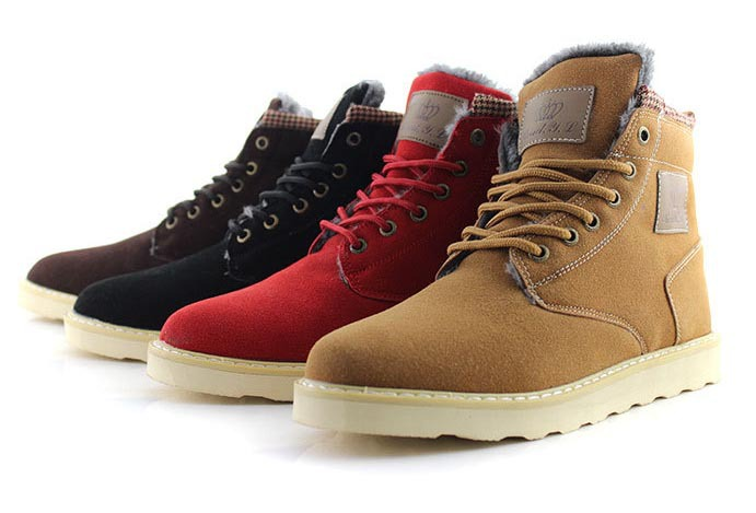 2014 new Casual men ankle suede boots flat heels mens genuine leather boots platform cowboy martin snow boot winter shoes(China (Mainland))